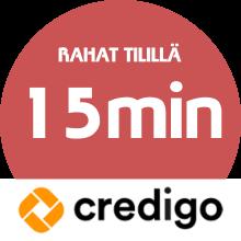 Credigo lainarahat tilillä: 10 minuutin kuluessa!