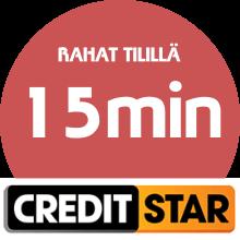 CreditStar lainarahat tilillä: 15 minuutin kuluessa!