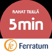 Ferratum lainarahat tilillä: alle 5 min