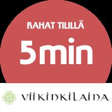 Viikinkilaina lainarahat tilillä: 5 minuutin kuluessa!