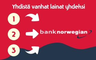 Yhdistä Bank Norwegian laina