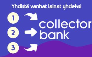 Yhdistä Collector Bank laina