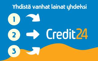 Yhdistä Credit24 laina