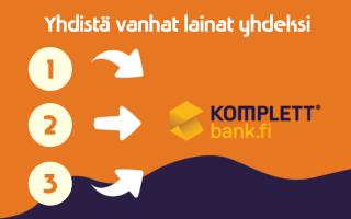 Yhdistä Komplett Bank laina