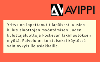 Avippi.fi ilmoitus