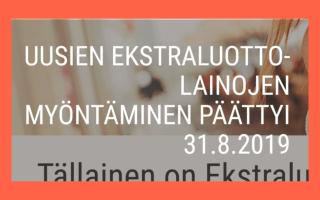 Ekstraluotto.fi ilmoitus