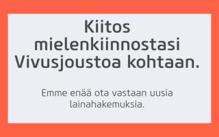 Vivusjousto.fi ilmoitus